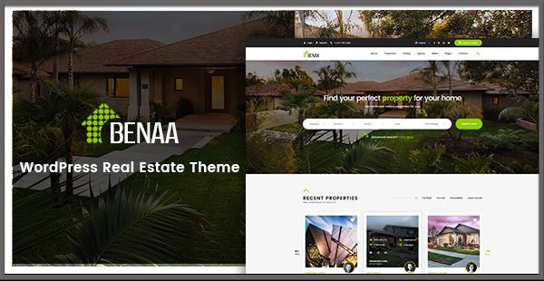 BENAA – The Innovative Real Estate WordPress Theme